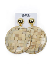 Cubed Circle Earrings