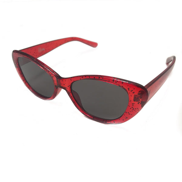 Sloane Ranger Red Glitter Sunglasses