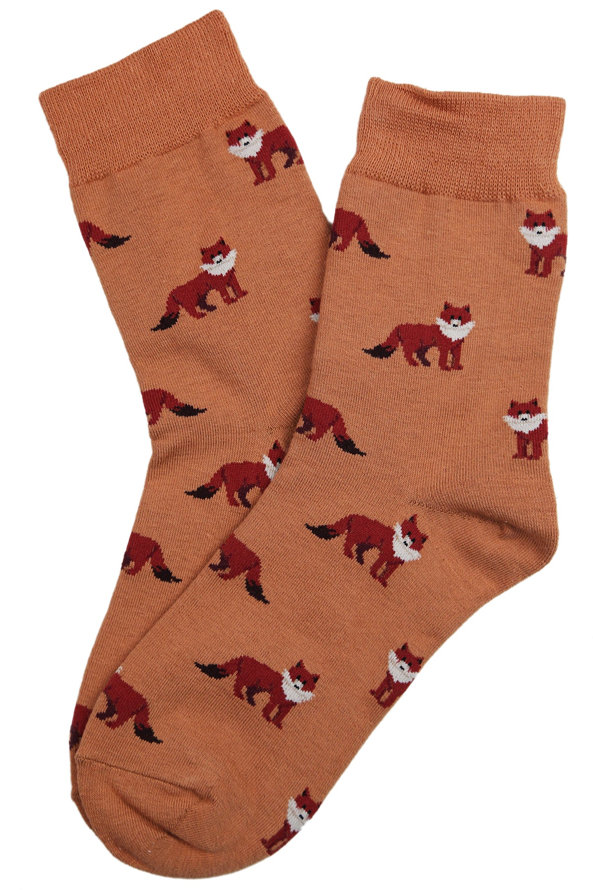 Fernando the Fox Cotton Socks Rust