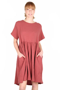 Freelance Dress Long Salmon