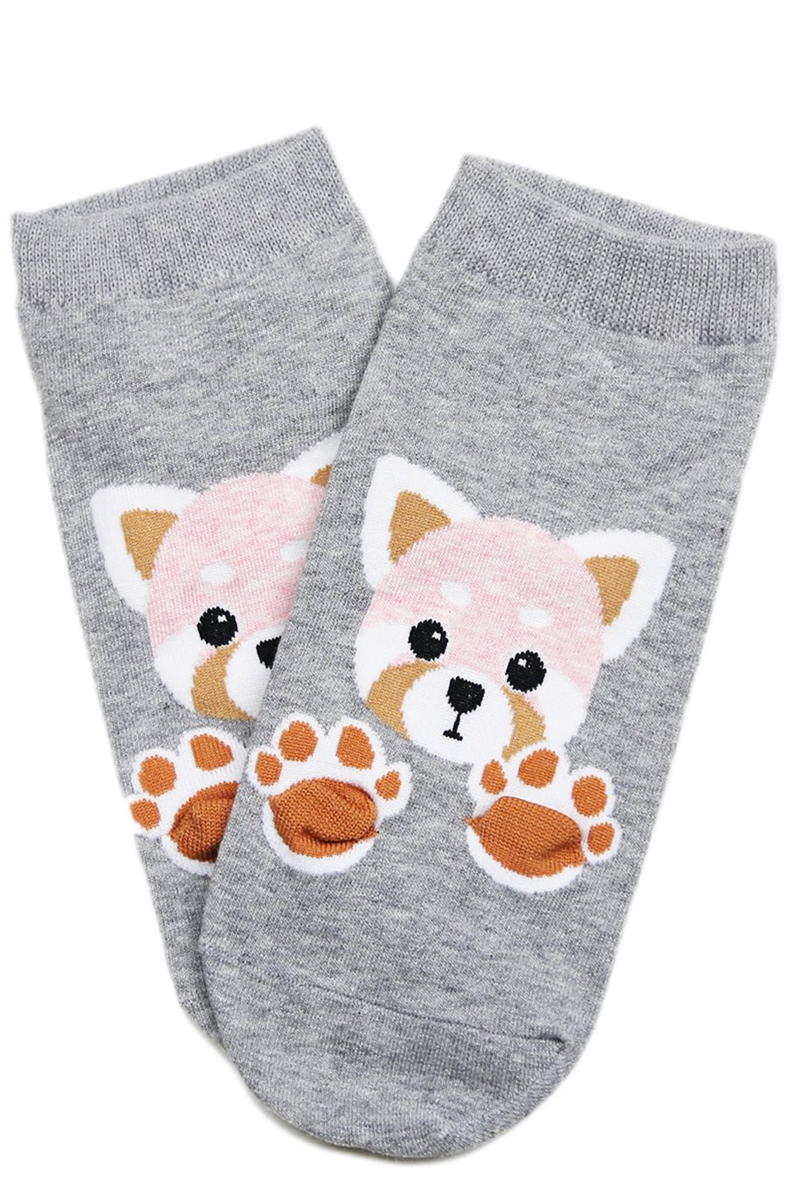 Paws Out Cotton Ankle Socks Grey