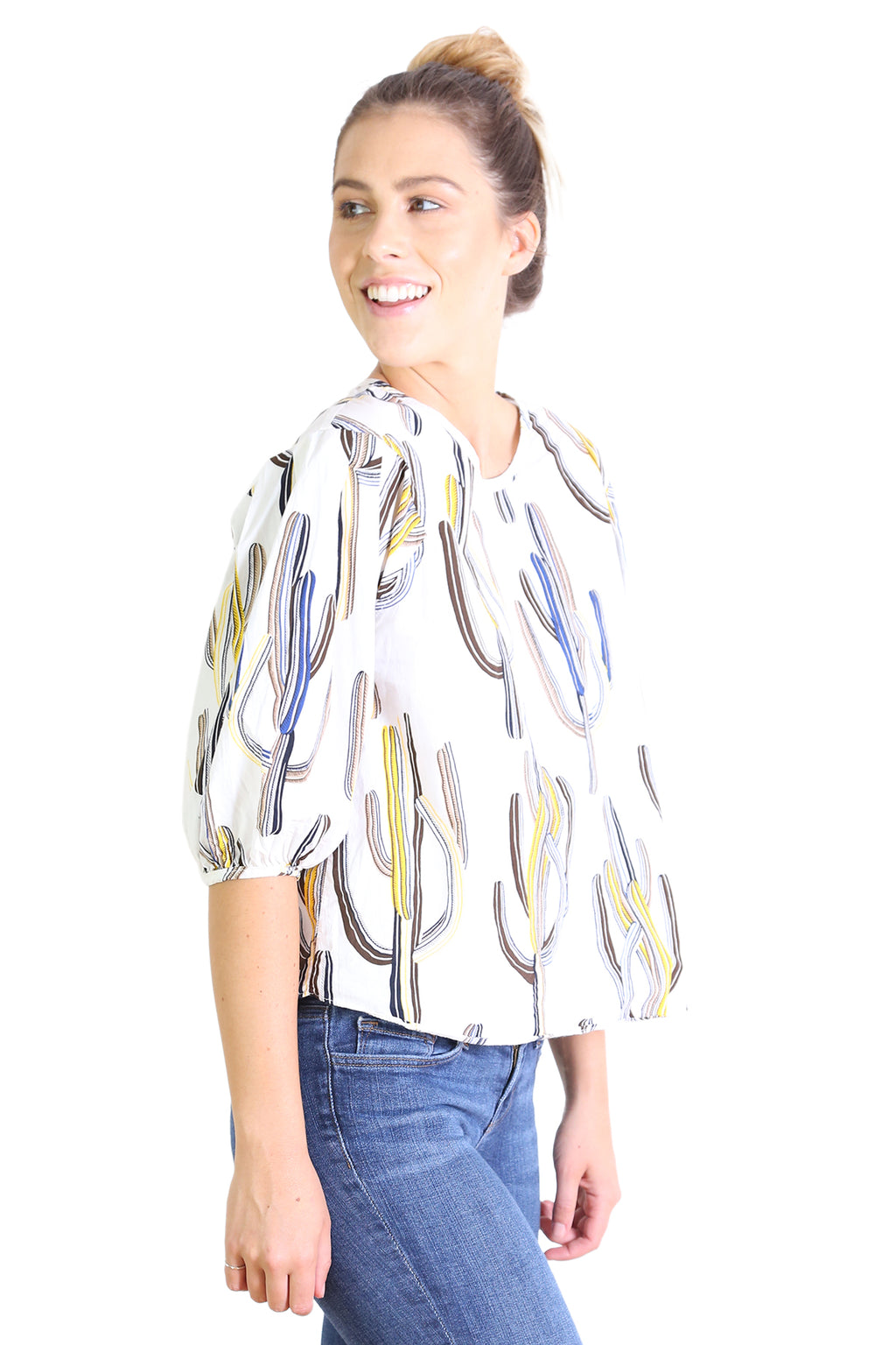 Go West Cotton Blouse Ivory
