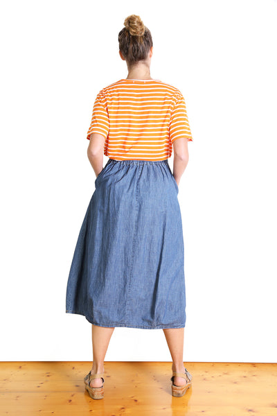 Graduate Denim Skirt