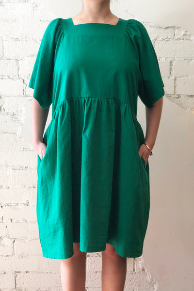 WILLOW Linen Dress Green