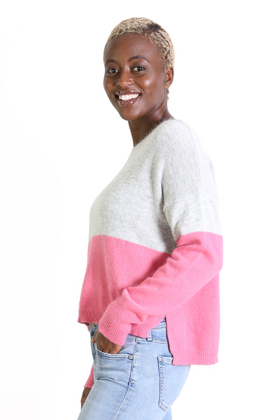 Halifax Sweater Top Deck Pink