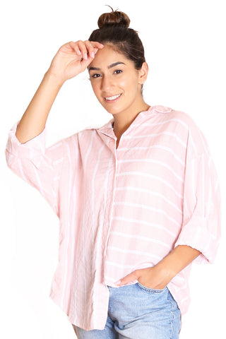 KINDRED Cotton Seer Blouse - Pink