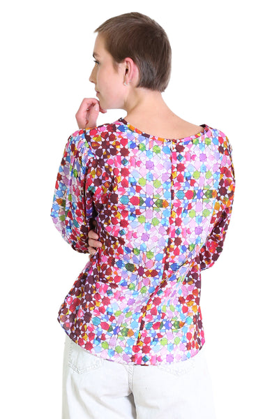 Kaleidoscope Cotton Blouse Pink