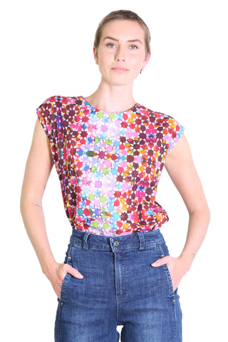 Kaleidoscope Cotton Tee Pink