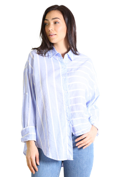 Kindred Cotton Seer Blouse Blue