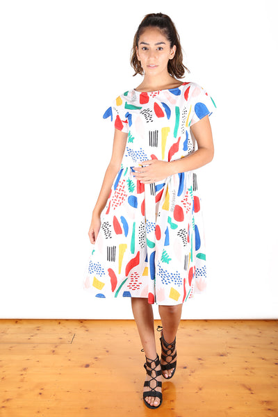 Loving Vincent Cotton Dropwaist Dress