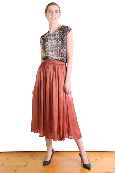 Lake Como Skirt Rust
