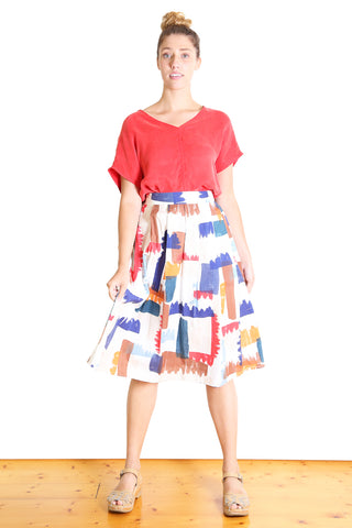 LEFT OF CENTRE Midi Skirt