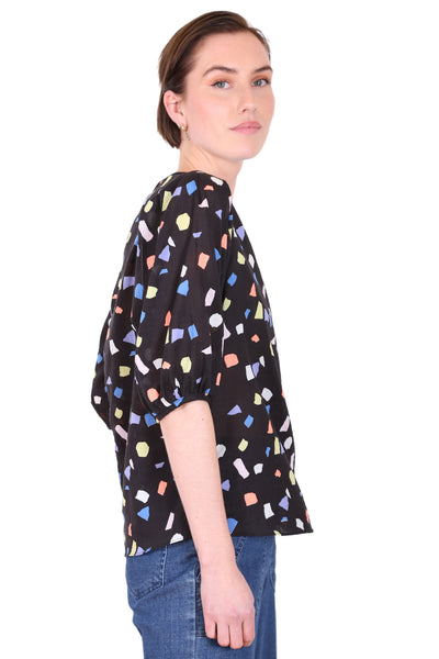 Let's Dance Seer Blouse Black