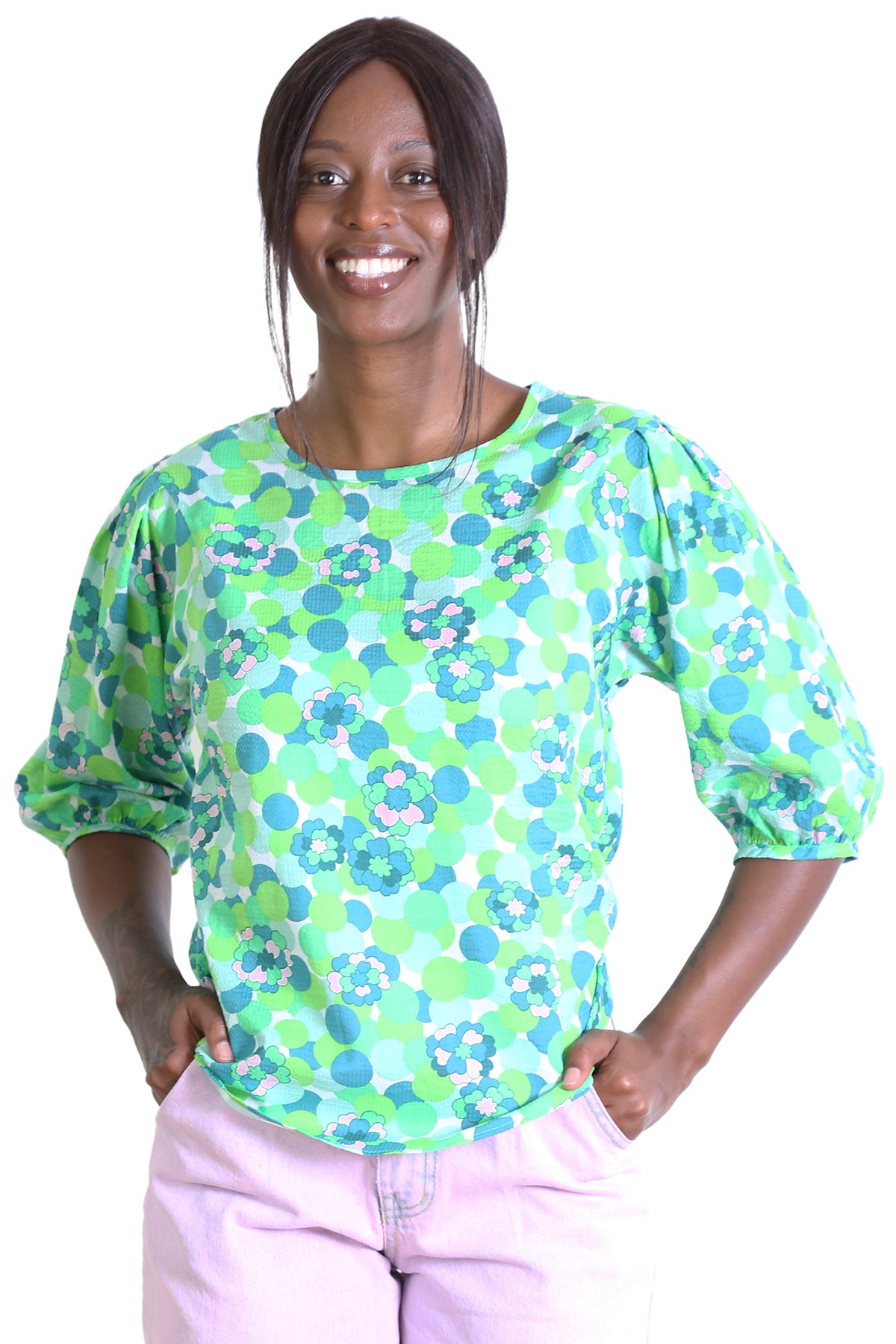 Lilypad Seer Blouse Green