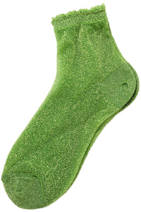 LIME GLITTER Socks