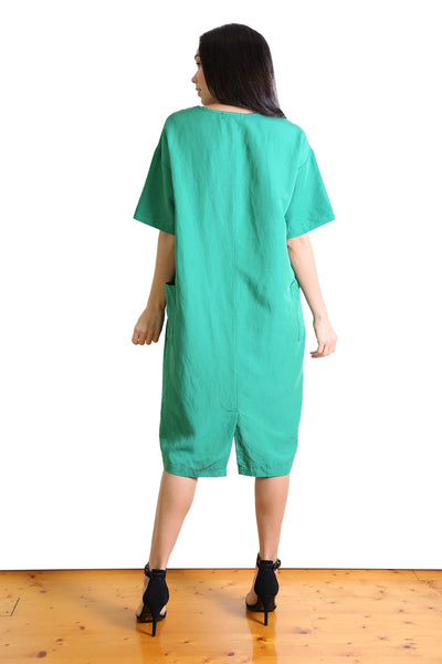 Lucille Linen Shift Dress - Green