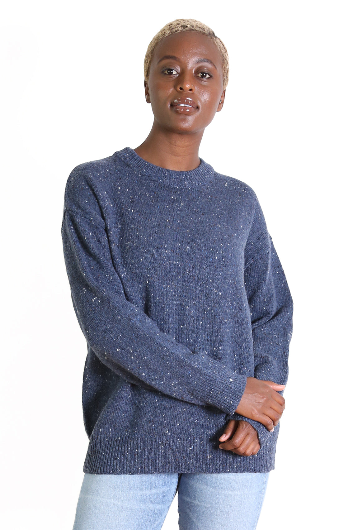 Malta Knit Sweater Sea Blue