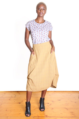 Milwaukee Textured Skirt Mustard Yellow