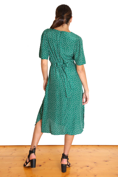 Miranda Spot Dress  Green
