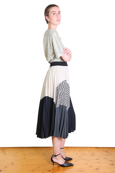 Mandy Pleated Skirt Ivory