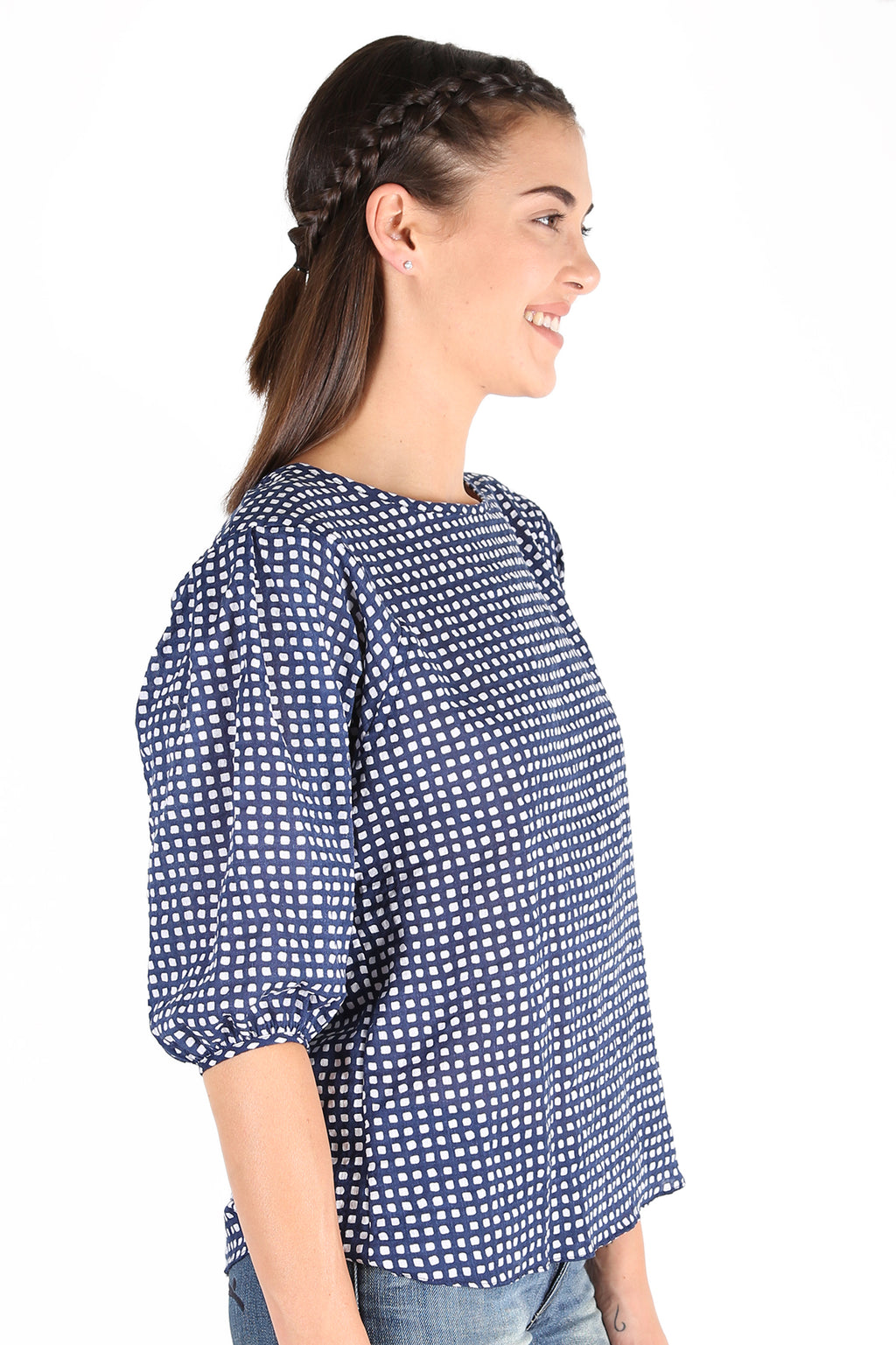 Manhattan  Seer Blouse Navy