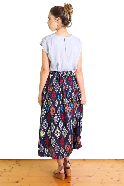 Maya Seer Skirt Navy