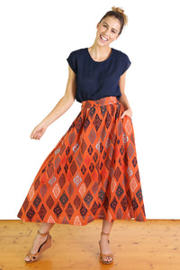 Maya Seer Skirt Orange