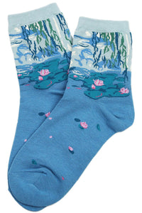 Monet's Petal Lake Cotton Socks