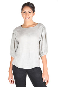 Nashville Textured Blouse Sand