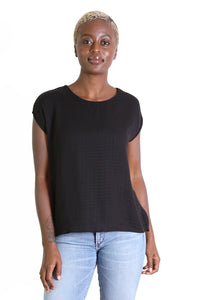 Nashville Textured Tee Black