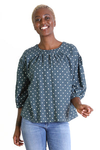 OLIVE SPOT Blouse Teal Green