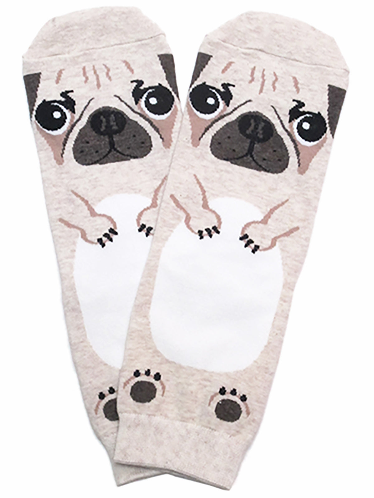 PUG Dog Cotton Ankle Socks Beige