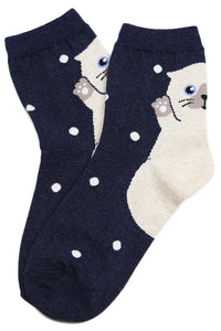 Party Cat Heel Cotton Socks