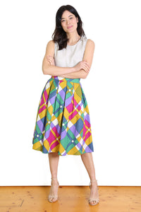 Peggy Sue Linen Midi Skirt