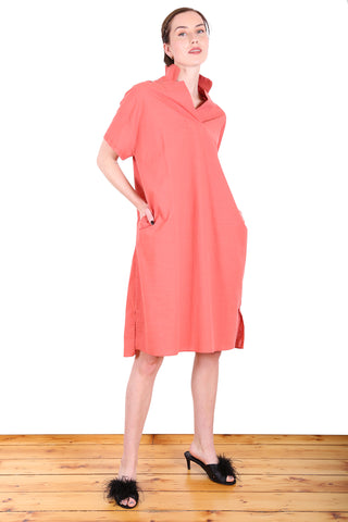 Queenscliff Cotton Dress Orange