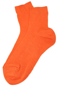 Rayon Thin Socks Orange