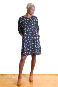 Savannah Shift Dress  Black
