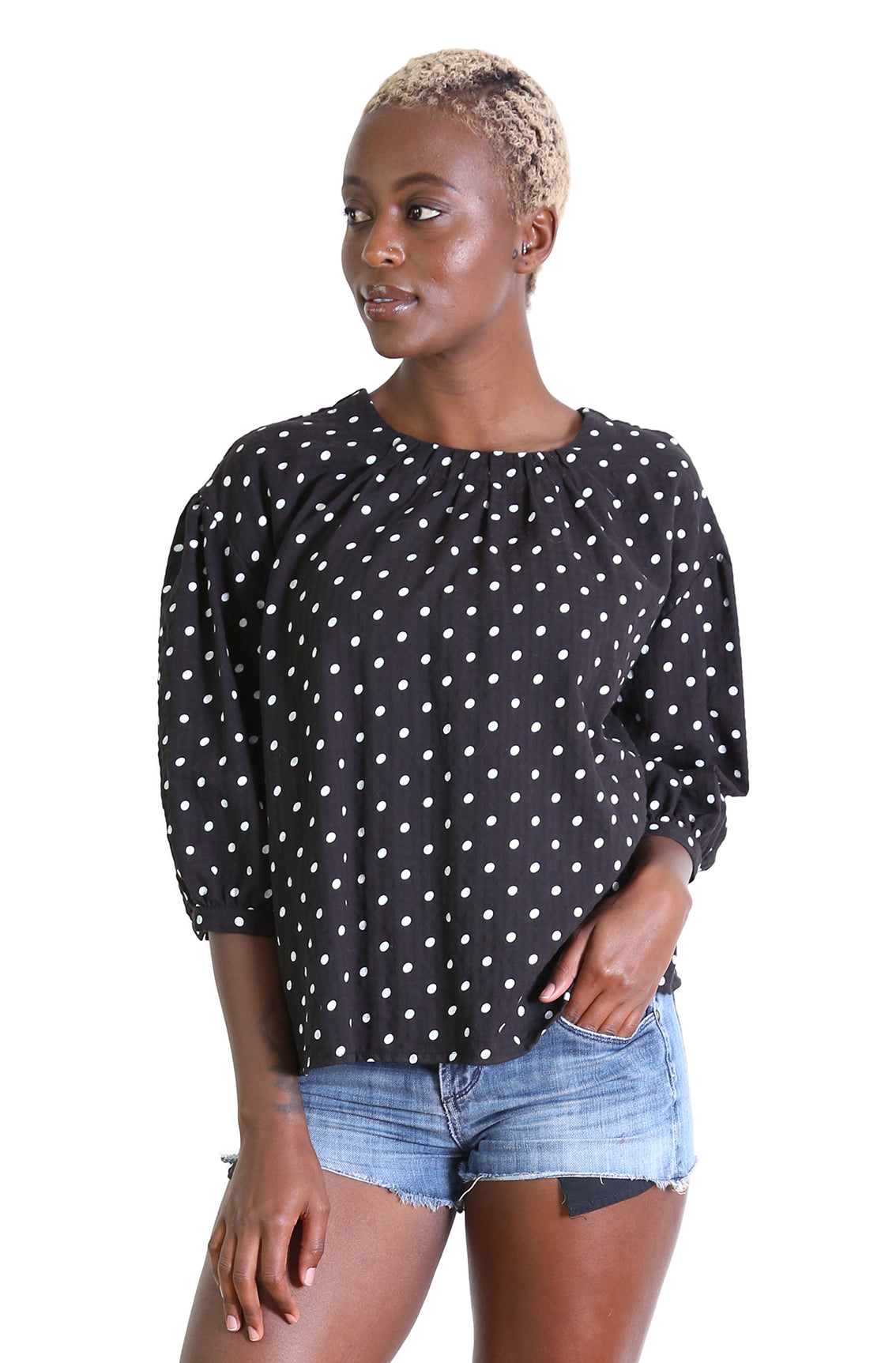 OLIVE SPOT Blouse Black