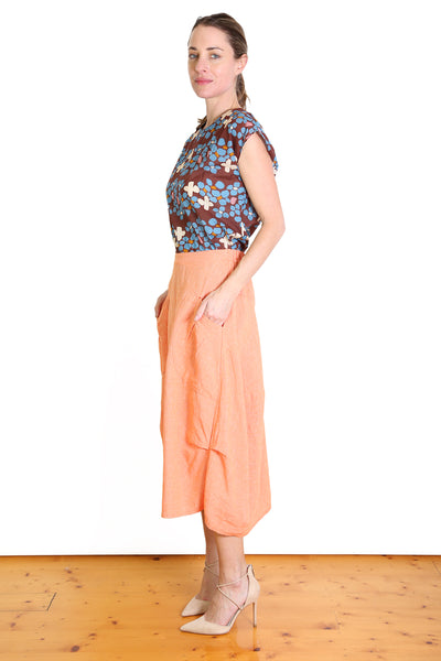 South East Milwaukee Cotton/Linen Skirt - Orange