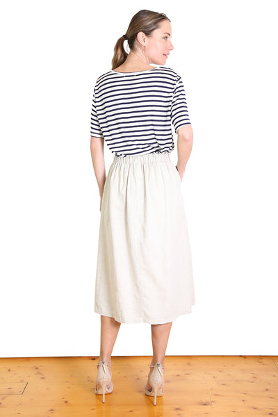 Santiago Cotton/Linen Skirt Sand