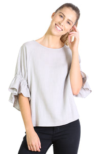 Seki Blouse Powder Grey