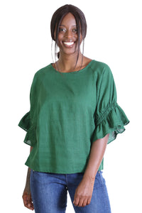 Seki Blouse Old Tram Green