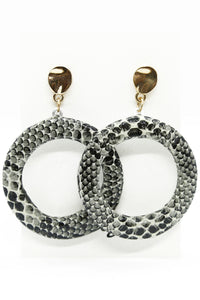 Slinky Hoop Earrings Grey