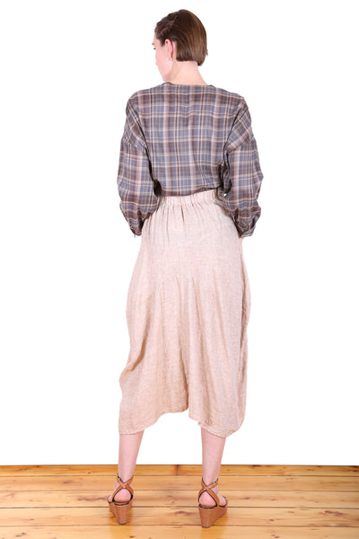 South Milwaukee Linen Skirt Sand