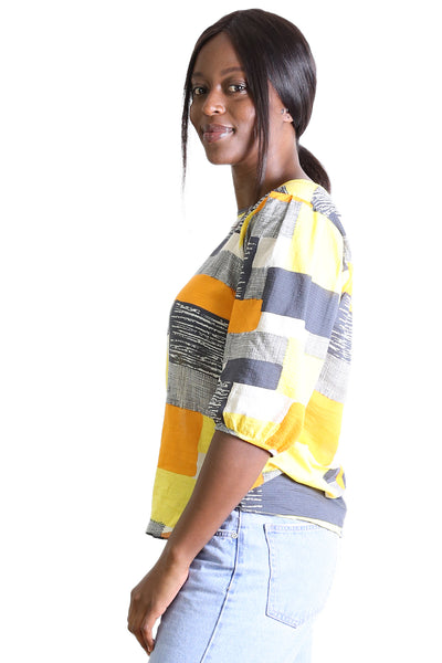 Southbank Seer Blouse Yellow