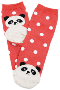 Petunia Panda Spotty Cotton Socks
