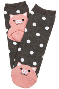 Spotty Pig Cotton Socks
