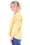 Sueanne Gingham Blouse Yellow