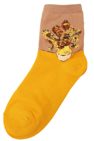 Sunflowers Cotton Socks