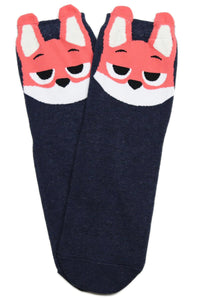 Suspicious Miss Fox Cotton Socks